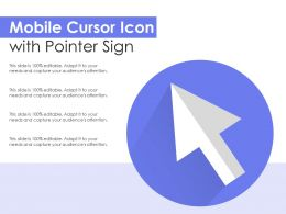 Mobile Cursor Icon With Pointer Sign