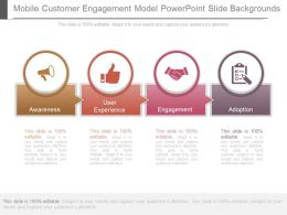 Mobile Customer Engagement Model Powerpoint Slide Backgrounds