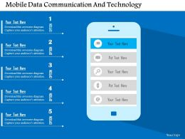 Mobile Data Communication And Technology Flat Powerpoint Design