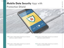 Mobile Data Security App With Protection Shield