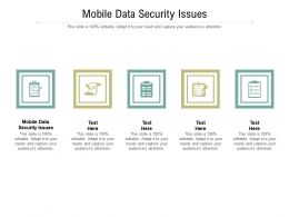 Mobile Data Security Issues Ppt Powerpoint Presentation Styles Graphics Cpb