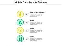 Mobile Data Security Software Ppt Powerpoint Presentation Portfolio Slides Cpb