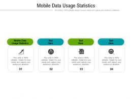 Mobile Data Usage Statistics Ppt Powerpoint Presentation Model Graphic Tips Cpb