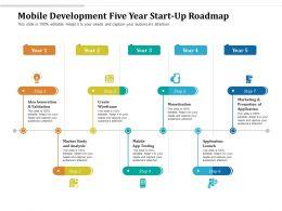 Mobile Development Five Year Start Up Roadmap