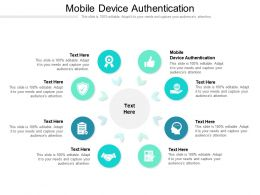 Mobile Device Authentication Ppt Powerpoint Presentation Professional Deck Cpb
