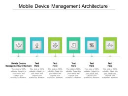 Mobile Device Management Architecture Ppt Powerpoint Presentation Model Templates Cpb