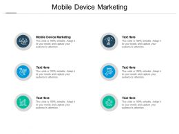 Mobile Device Marketing Ppt Powerpoint Presentation Model Tips Cpb