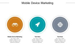 Mobile Device Marketing Ppt Powerpoint Presentation Slides Graphics Design Cpb