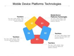 Mobile Device Platforms Technologies Ppt Powerpoint Presentation Model Visuals Cpb