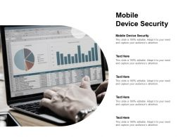 Mobile Device Security Ppt Powerpoint Presentation Ideas Cpb