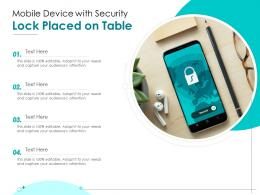 Mobile Device With Security Lock Placed On Table
