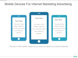 Mobile Devices For Internet Marketing Advertising Ppt Graphic