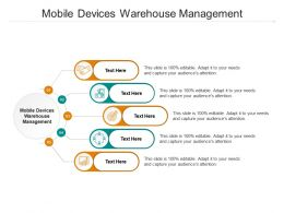 Mobile Devices Warehouse Management Ppt Powerpoint Presentation Infographics Cpb