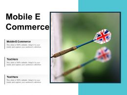 Mobile E Commerce Ppt Powerpoint Presentation Gallery Visuals Cpb