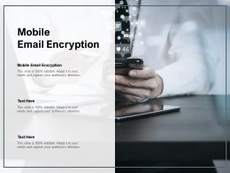 Mobile Email Encryption Ppt Powerpoint Presentation Infographics Background Cpb