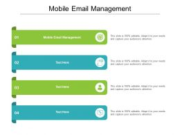 Mobile Email Management Ppt Powerpoint Presentation Gallery Deck Cpb