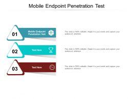 Mobile Endpoint Penetration Test Ppt Powerpoint Presentation Show Deck Cpb