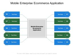 Mobile Enterprise Ecommerce Application Ppt Powerpoint Presentation Professional Background Cpb