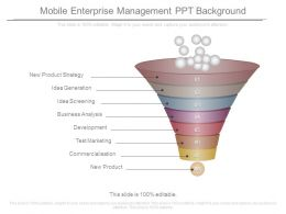 Mobile Enterprise Management Ppt Background