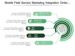 Mobile Field Service Marketing Integration Order Manager Dashboard