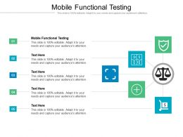 Mobile Functional Testing Ppt Powerpoint Presentation Outline Ideas Cpb
