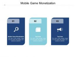 Mobile Game Monetization Ppt Powerpoint Presentation Gallery Infographics Cpb