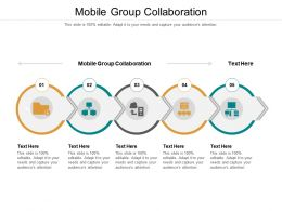 Mobile Group Collaboration Ppt Powerpoint Icon Background Images Cpb
