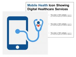 Mobile Health Icon Showing Digital Healthcare Services1