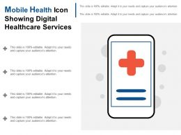 Mobile Health Icon Showing Digital Healthcare Services