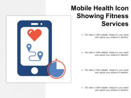 Mobile Health Icon Showing Fitness Services