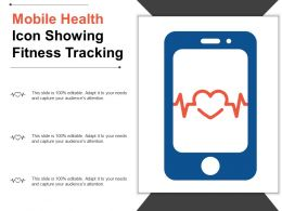 Mobile Health Icon Showing Fitness Tracking
