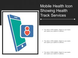 Mobile Health Icon Showing Health Track Services