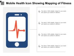 Mobile Health Icon Showing Mapping Of Fitness