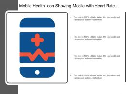 Mobile Health Icon Showing Mobile With Heart Rate And Doctor Symbol