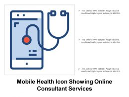 Mobile Health Icon Showing Online Consultant Services