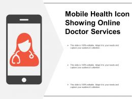 Mobile Health Icon Showing Online Doctor Services