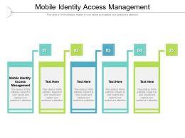Mobile Identity Access Management Ppt Powerpoint Presentation Portfolio Slides Cpb