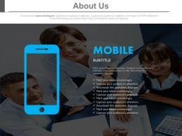 Mobile Info About Us Slide Powerpoint Slides