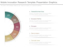 Mobile Innovation Research Template Presentation Graphics