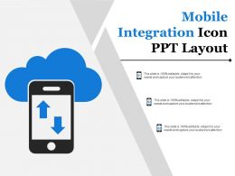 Mobile Integration Icon Ppt Layout