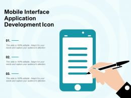 Mobile Interface Application Development Icon