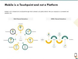 Mobile Is A Touchpoint And Not A Platform Ppt File Elements