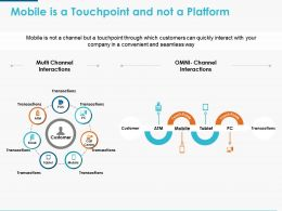 Mobile Is A Touchpoint And Not A Platform Ppt Powerpoint Presentation Icon Samples