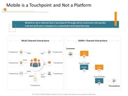 Mobile Is A Touchpoint And Not A Platform Quickly Ppt Powerpoint Presentation Ideas Design