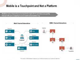Mobile Is A Touchpoint And Not A Platform Seamless Ppt Powerpoint Presentation Summary Tutorials