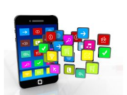 Mobile Loaded With Social And Game Applications Stock Photo