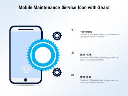 Mobile Maintenance Service Icon With Gears