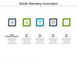 Mobile Marketing Automation Ppt Powerpoint Presentation Professional Infographic Template Cpb