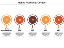 Mobile Marketing Content Ppt Powerpoint Presentation Gallery Summary Cpb