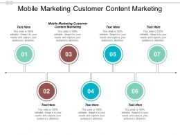 Mobile Marketing Customer Content Marketing Ppt Powerpoint Presentation Ideas Infographics Cpb